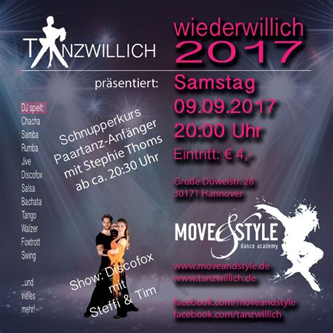 Tanzwillich Party - Move & Style - dance academy