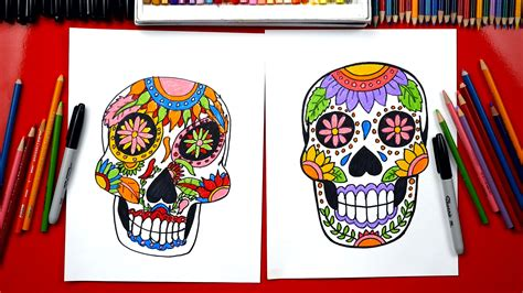 How To Draw A Sugar Skull - Art For Kids Hub