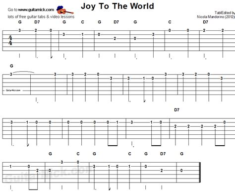 JOY TO THE WORLD Easy Guitar Lesson: GuitarNick