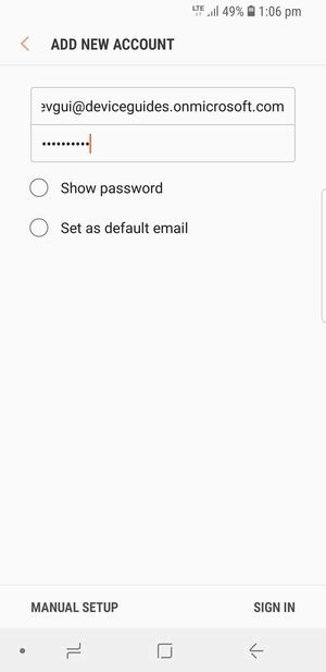 Set up Exchange email - Samsung Galaxy S8 - Android 8