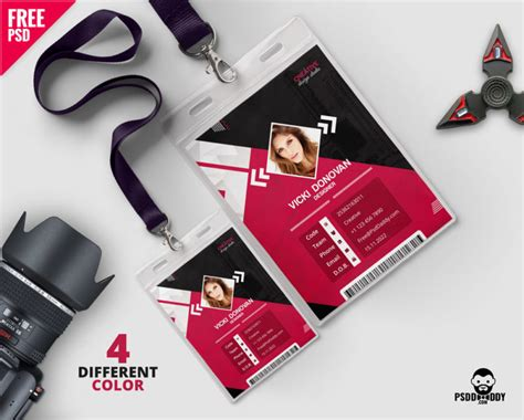 [Download] Photo Identity Card Template PSD | PsdDaddy