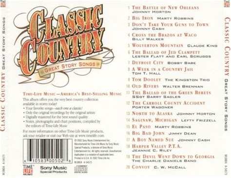 Classic Country: Great Story Songs - Various Artists