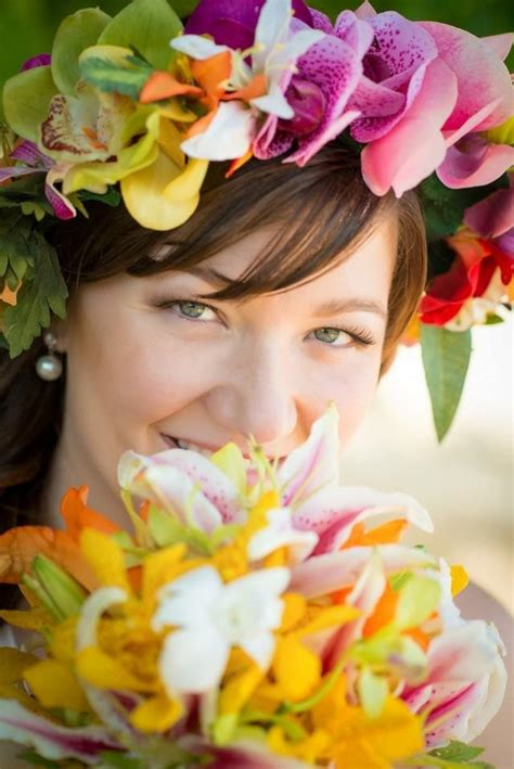 """FLOWER CROWN, """"Real Touch"""" Silk Flowers, Bridal Hair Piece"""