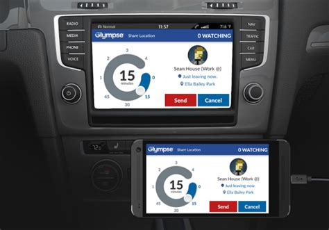 Glympse to be integrated with Volkswagen and Peugeot cars