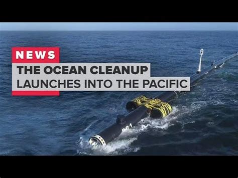 The Ocean Cleanup launches to the Great Pacific Garbage