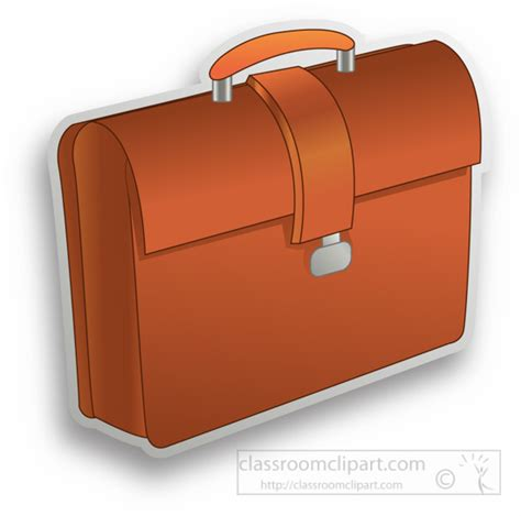 Objects Clipart- brown-briefcase-clipart - Classroom Clipart