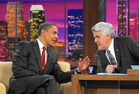 Jay Leno — that jaw, that voice — on the road again