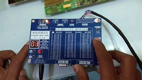 led lcd panel test with universal panel tester how to test
