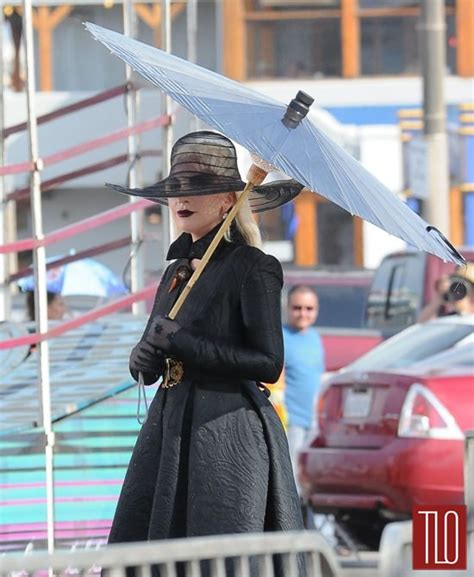 """Lady Gaga on the Set of """"American Horror Story: Hotel"""