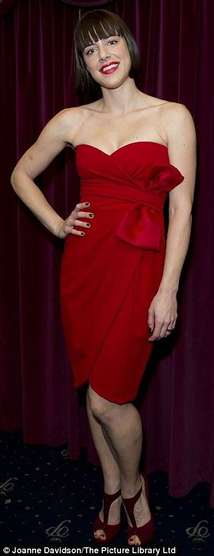 Michelle Ryan steals the spotlight in sizzling red dress